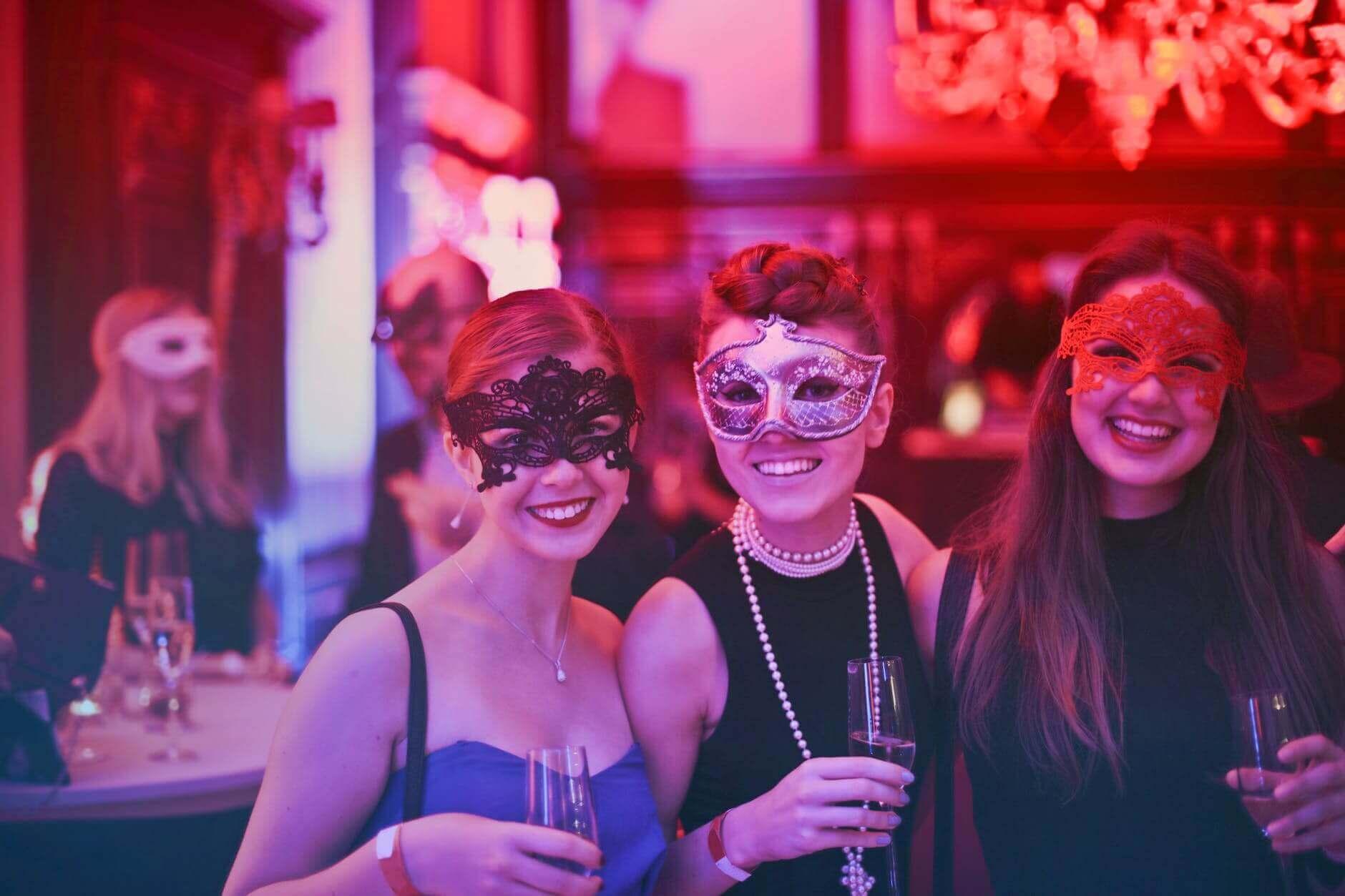 Masquerade theme for party bus